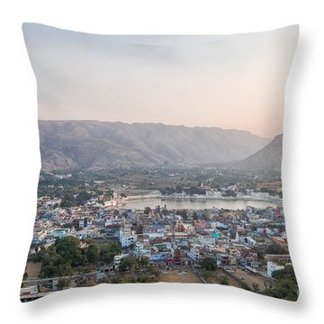 Throw Pillow featuring the photograph Pushkar by Yew Kwang