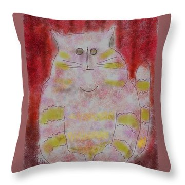 Pussy Cat Throw Pillow