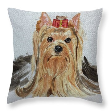 Put A Bow On It Throw Pillow