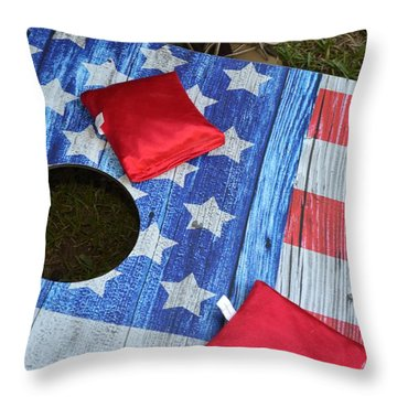 Put It In The Hole Throw Pillow