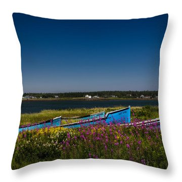 Put Out To Pature Throw Pillow