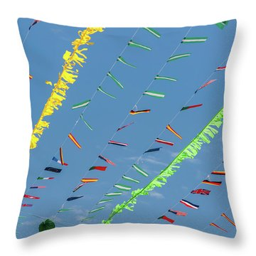 Put The Flags Out Throw Pillow