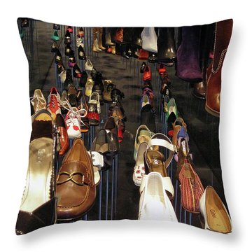 Put Your Shoes ... Throw Pillow by Juergen Weiss