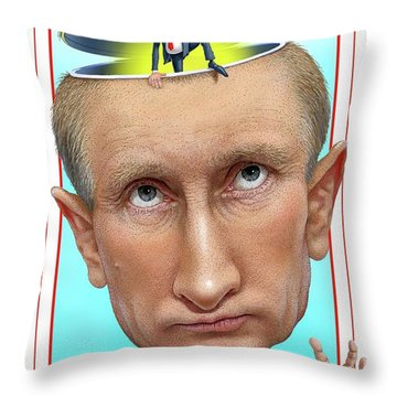Putin 2016 Throw Pillow