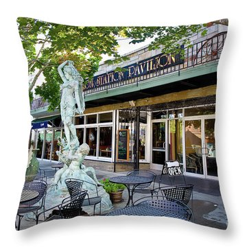 Putnam Antiques Throw Pillow by Susan Cole Kelly