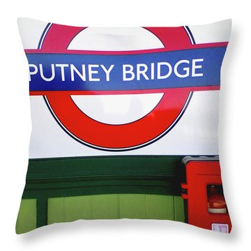 Throw Pillow featuring the photograph Putney Bridge by Rebecca Harman