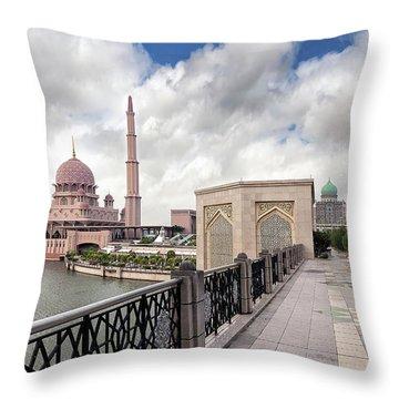 Putra Mosque Throw Pillow by David Gn