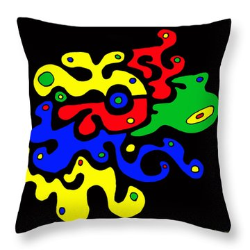 Putsche 8021 Throw Pillow by Sir Josef - Social Critic - ART