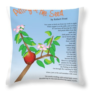 Throw Pillow featuring the digital art Putting In The Seed by Thomasina Durkay