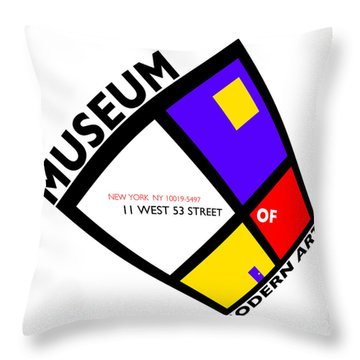 Putting On De Stijl Throw Pillow by Charles Stuart