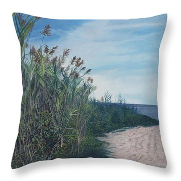 Putting Out To Sea Throw Pillow