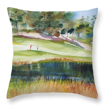 Putting Pine Hills Throw Pillow
