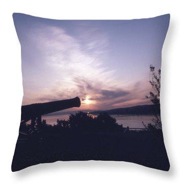 Putting Up The Sun Throw Pillow