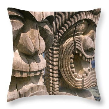 Puuhonua O Honaunau Throw Pillow by Ron Dahlquist - Printscapes