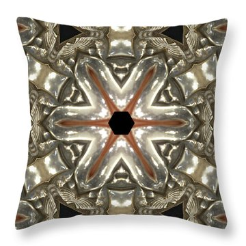 Puzzle In Taupes Throw Pillow