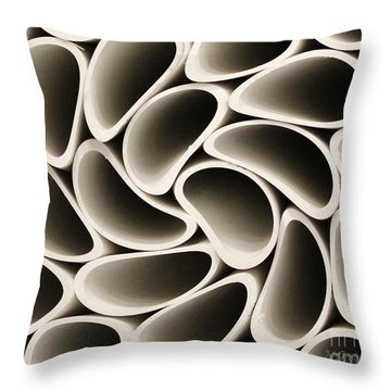 Pvc Pipe Twirl Throw Pillow