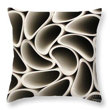 Pvc Pipe Twirl Throw Pillow