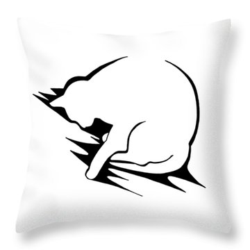 Throw Pillow featuring the drawing Py by Keith A Link