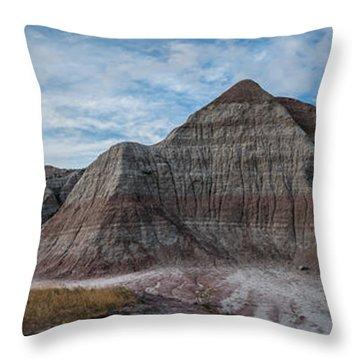 Pyramid In The Badlands Panorama Throw Pillow