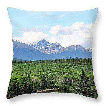 Pyramid Island - Jasper Ab. Throw Pillow by Ryan Crouse