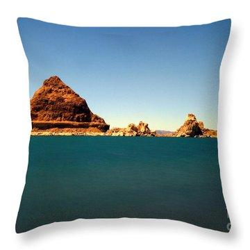 Pyramid Lake  Throw Pillow by Catherine Lau