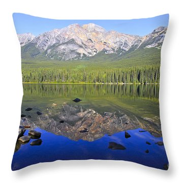 Pyramid Lake Reflection Throw Pillow