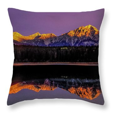 Throw Pillow featuring the photograph Pyramid Mountain 2006 01 by Jim Dollar