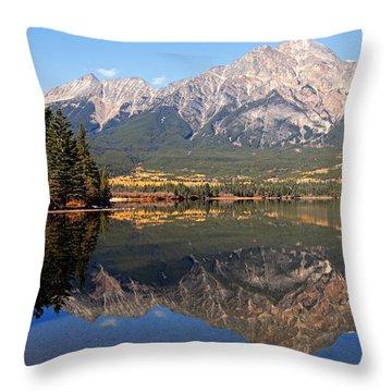 Pyramid Mountain And Pyramid Lake 2 Throw Pillow