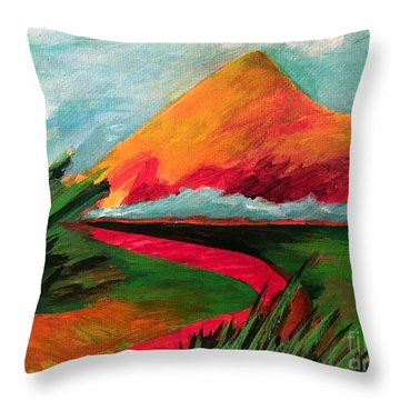 Pyramid Mountain Throw Pillow by Elizabeth Fontaine-Barr