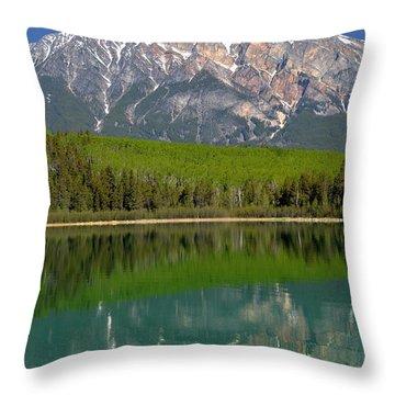 Pyramid Mountain Reflection Throw Pillow