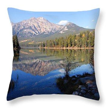 Pyramid Moutain Reflection Throw Pillow