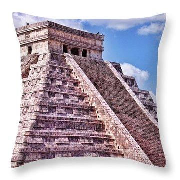Pyramid Of Kukulcan At Chichen Itza Throw Pillow