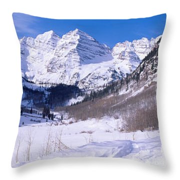 Pyramid Peak And Maroon Bells Throw Pillow