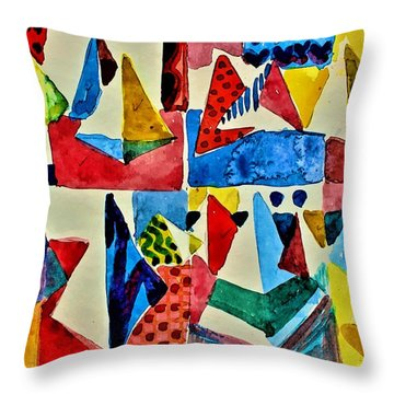 Throw Pillow featuring the digital art Pyramid Play by Mindy Newman