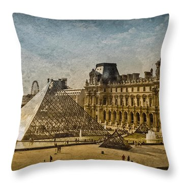 Paris, France - Pyramide Throw Pillow