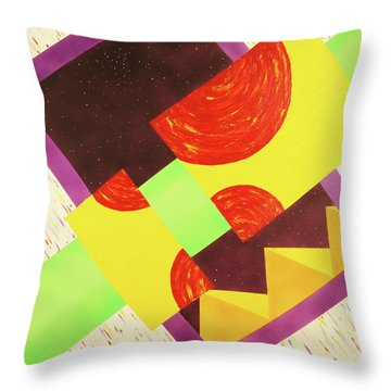 Pyramids And Pepperoni Throw Pillow