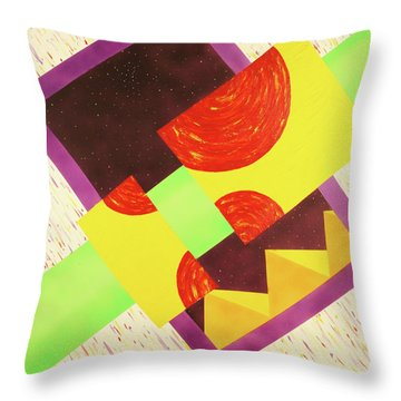 Pyramids And Pepperoni Throw Pillow by Thomas Blood
