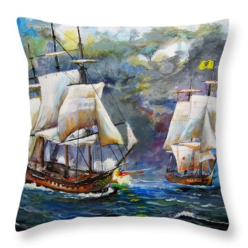 Pyrates Throw Pillow