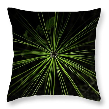 Pyrotechnics Or Pine Needles Throw Pillow