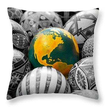 Pysanky World Throw Pillow
