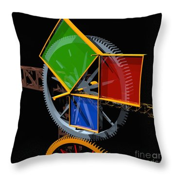 Pythagorean Machine Throw Pillow by Russell Kightley