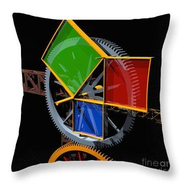 Pythagorean Theorem Digital Art Throw Pillows