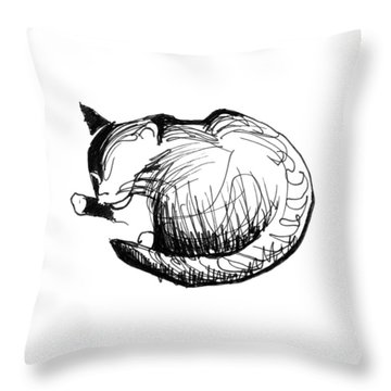 Throw Pillow featuring the drawing Pywackit by Keith A Link