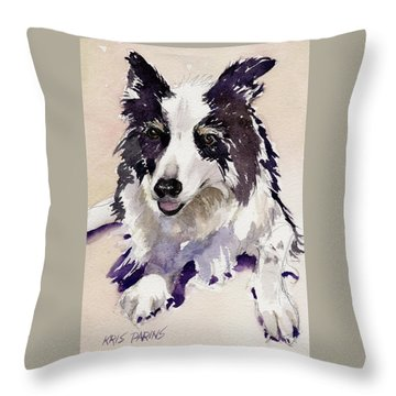 Throw Pillow featuring the painting Jack by Kris Parins