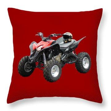 Quad Bike And Helmet Throw Pillow