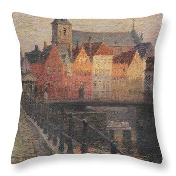 Quai De La Paille Throw Pillow by Paul Albert Steck