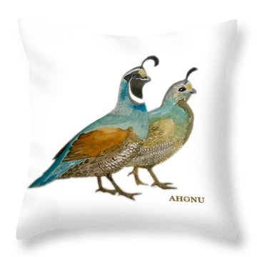 Quail Pair Throw Pillow