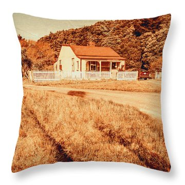 Quaint Country Cottage Throw Pillow
