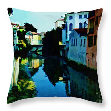 Throw Pillow featuring the photograph Quaint On The Canal by Roberta Byram