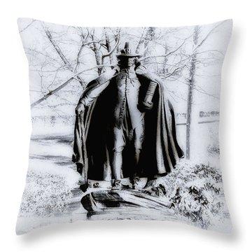 Quaker Pilgrim Throw Pillow by Bill Cannon